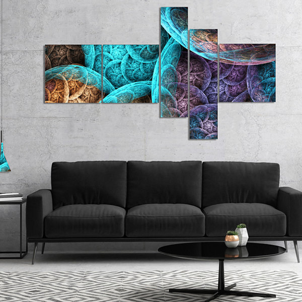 Designart Colorful Dramatic Clouds Multipanel Abstract Art On Canvas - 5 Panels