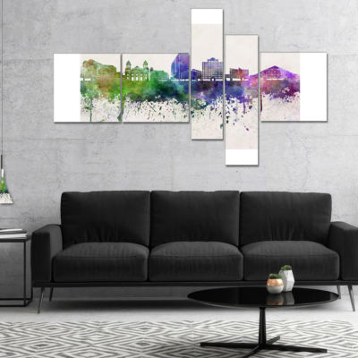 Designart San Jose Skyline Multipanel Cityscape Canvas Artwork Print - 4 Panels