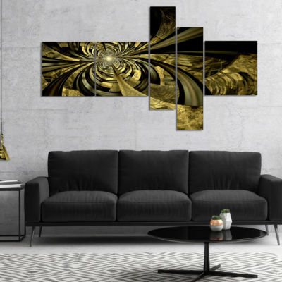 Designart Colorful Fractal Flower Pattern Multipanel Abstract Art On Canvas - 5 Panels