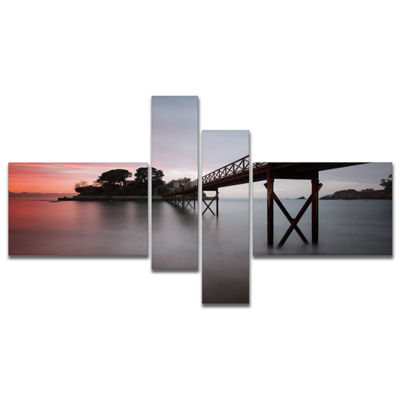 Designart Santa Cruz Island Spain Multipanel Seashore Photo Canvas Art Print - 4 Panels