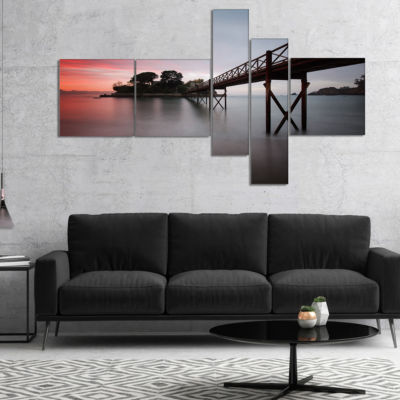 Designart Santa Cruz Island Spain Multipanel Seashore Photo Canvas Art Print - 5 Panels