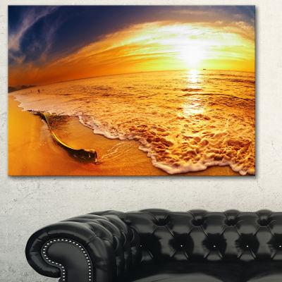 Designart Tropical Beach At Sunset Photography Canvas Art Print