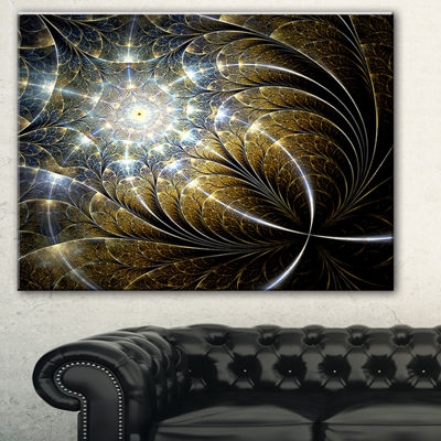 Designart Colorful Spiral Kaleidoscope MultipanelAbstract Wall Art Canvas - 4 Panels