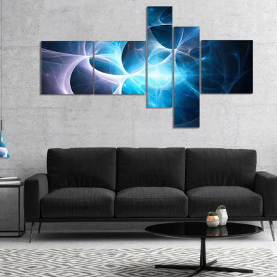 Designart Colorful Star Nebula. Distant Magnificent Galaxy. Stardust. Space Wind. - 4 Panels