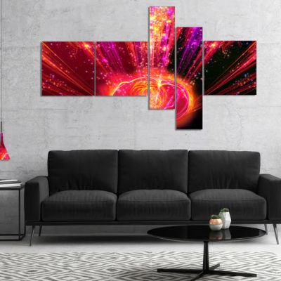 Designart Shining Radical Blast With Magic Ball Multipanel Abstract Print On Canvas - 4 Panels