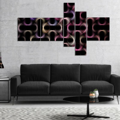 Designart Colorful Unusual Metal Grill MultipanelAbstract Wall Art Canvas - 5 Panels