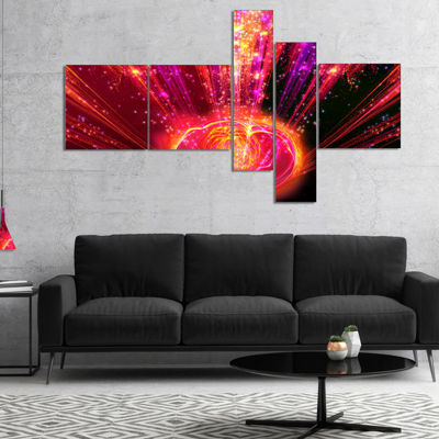 Designart Shining Radical Blast With Magic Ball Multipanel Abstract Print On Canvas - 5 Panels