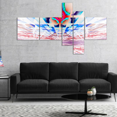 Designart Cosmic Horizons Apocalypse Multipanel Abstract Wall Art Canvas - 4 Panels