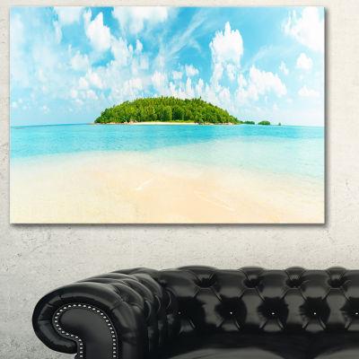 Designart Tropical Island Panorama Large Photography Canvas Art Print - 3 Panels