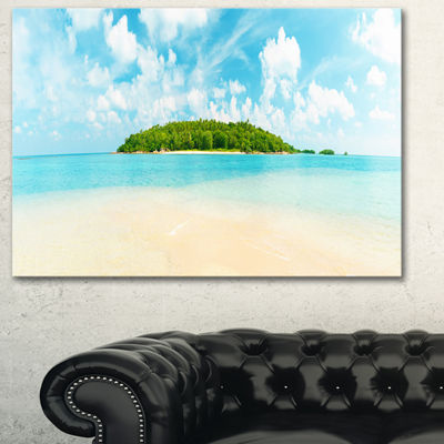 Designart Tropical Island Panorama Large Photography Canvas Art Print - 3 Panels