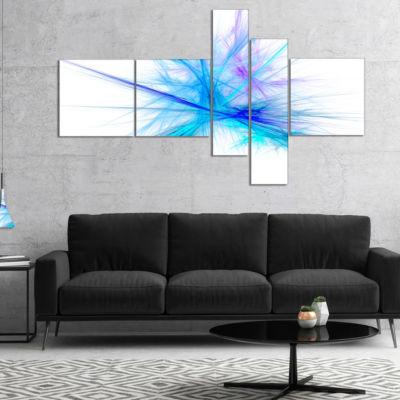 Designart Criss Cross Spectrum Of Light MultipanelAbstract Canvas Wall Art - 5 Panels