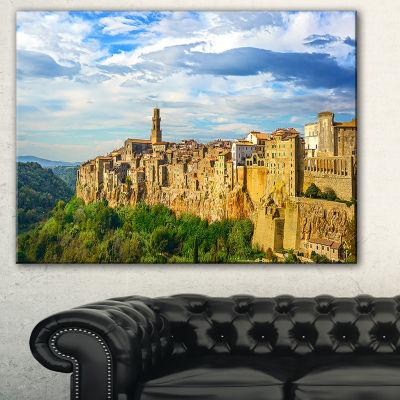 Designart Tuscany Pitigliano Medieval Village Photography Canvas Art Print