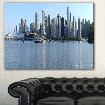 Designart Vancouver Bc Skyline Panorama CityscapePhoto Canvas Print - 3 Panels
