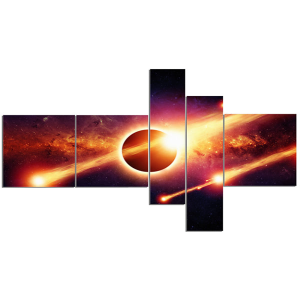 Designart Space Apocalypse Multipanel Abstract Canvas Art Print - 5 Panels