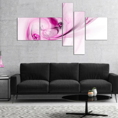 Designart Spiral Nebula Space Magenta MultipanelLarge Abstract Art - 5 Panels