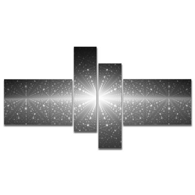 Designart Stardust And Bright Shining Stars Multipanel Abstract Wall Art Canvas - 4 Panels