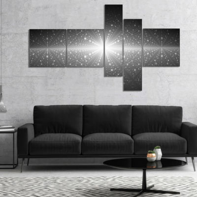 Designart Stardust And Bright Shining Stars Multipanel Abstract Wall Art Canvas - 5 Panels