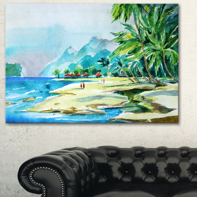 Designart View From Shore Landscape Art Print Canvas
