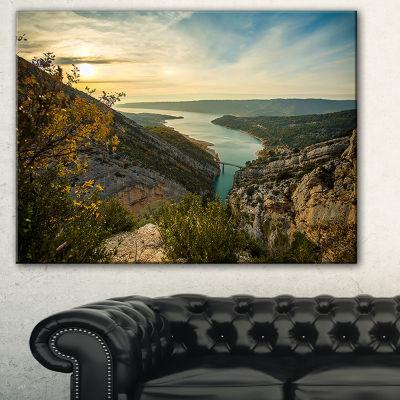 Designart View Of Gorges Du Verdon France Photography Canvas Art Print