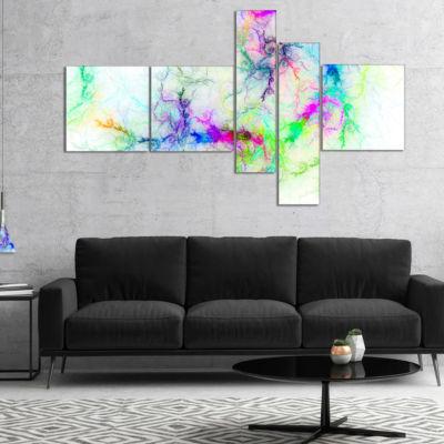 Designart Stormy Sky Fierce Lightning Multipanel Abstract Art On Canvas - 4 Panels