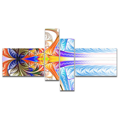 Designart Strange Fractal Desktop Multipanel LargeAbstract Art - 4 Panels