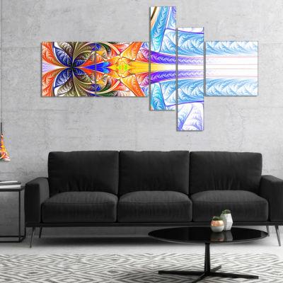 Designart Strange Fractal Desktop Multipanel LargeAbstract Art - 5 Panels