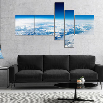 Designart Stunning View From Airplane Multipanel Landscape Canvas Art Print - 5 Panels