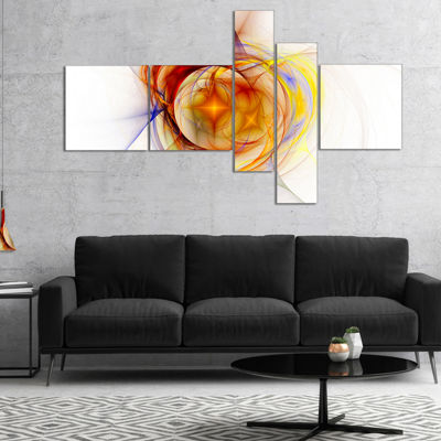 Designart Supernova Explosion In White MultipanelAbstract Print On Canvas - 5 Panels
