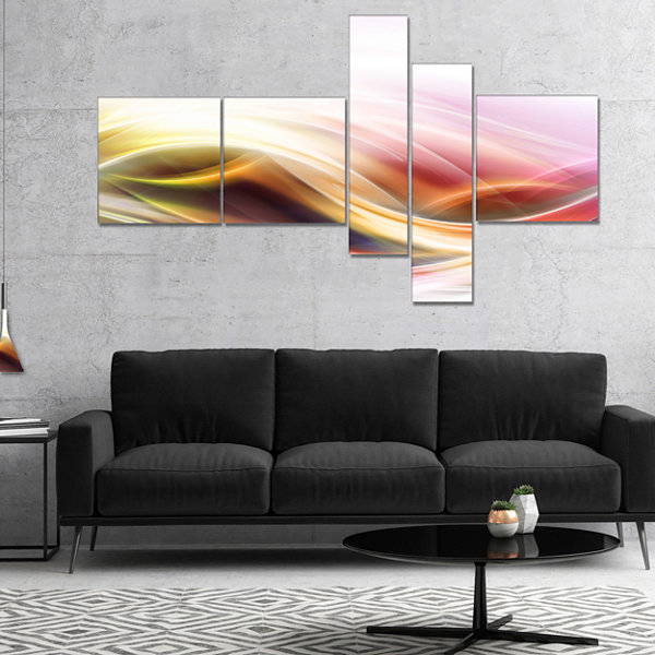 Designart Elegant Light Color Pattern Multipanel Abstract Canvas Art Print - 4 Panels