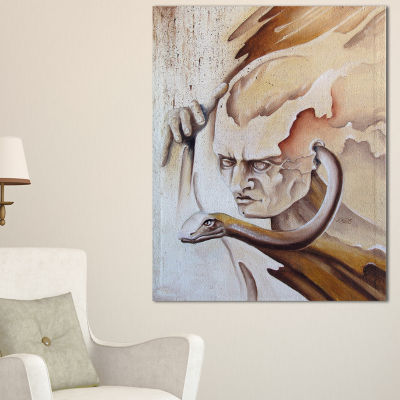 Designart Voice Inside Abstract Canvas Art Print