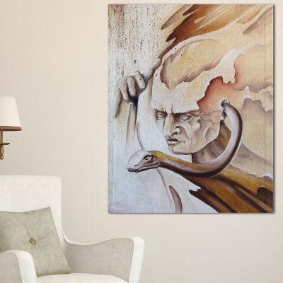 Designart Voice Inside Abstract Canvas Art Print-3Panels