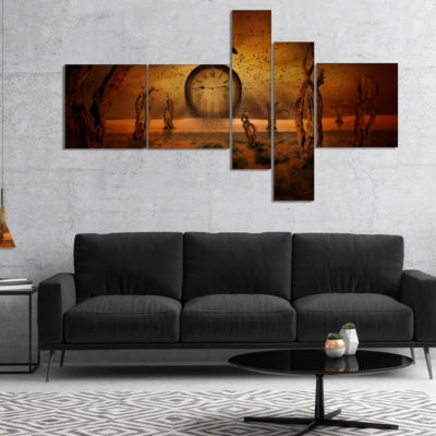 Design Art End Of Time Multipanel Abstract CanvasArt Print - 5 Panels