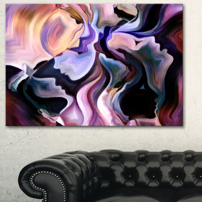 Designart Voyages To Inner Self Abstract Canvas Art Print - 3 Panels