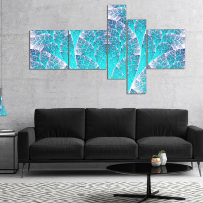 Designart Exotic Blue Biological Organism Multipanel Abstract Art On Canvas - 4 Panels