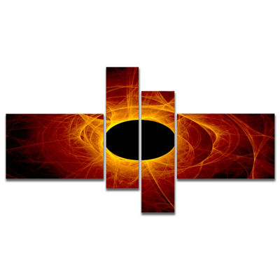 Designart The Eye Of God Digital Art Multipanel Abstract Wall Art Canvas - 4 Panels