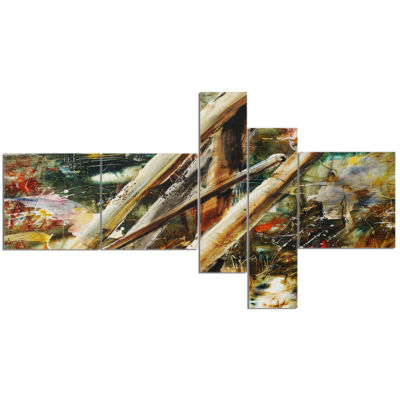 Design Art Tools And Abstract Pattern Multipanel Abstract Canvas Artwork - 5 Panels