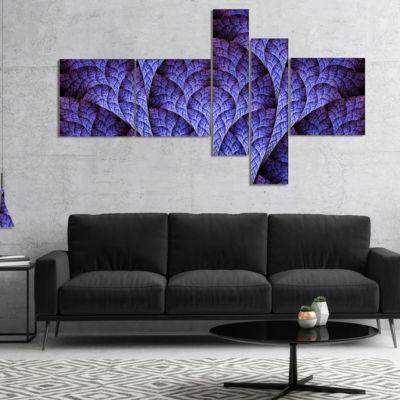 Designart Exotic Purple Biological Organism Multipanel Abstract Art On Canvas - 4 Panels