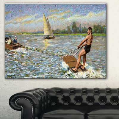 Designart Water Skiing Photography Canvas Art Print