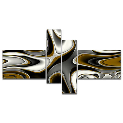 Designart Fantastic Fractal Abstract Pattern Multipanel Large Abstract Canvas Artwork - 4 Panels