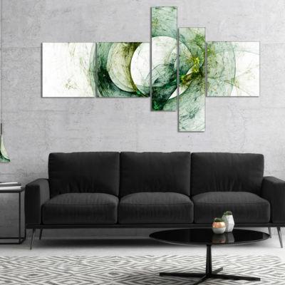 Designart Far Spherical Galaxy Brown Multipanel Abstract Canvas Art Print - 4 Panels