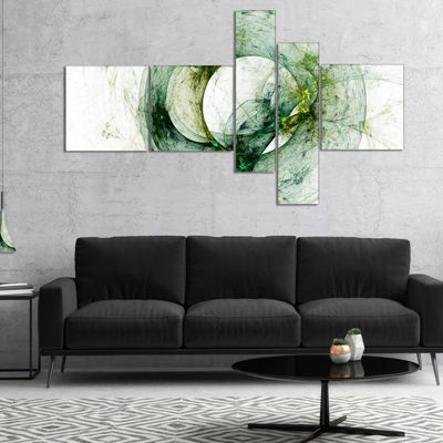 Designart Far Spherical Galaxy Brown Multipanel Abstract Canvas Art Print - 5 Panels