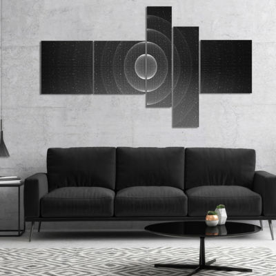 Designart Vector Interstellar Space Background Multipanel Abstract Wall Art Canvas - 4 Panels