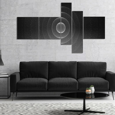 Designart Vector Interstellar Space Background Multipanel Abstract Wall Art Canvas - 5 Panels