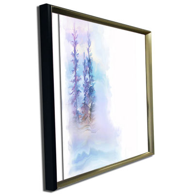 Designart Watercolor Trees Landscape Art Print Canvas