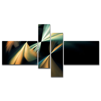 Designart Floating Abstract Fractal Designs Multipanel Abstract Art On Canvas - 4 Panels