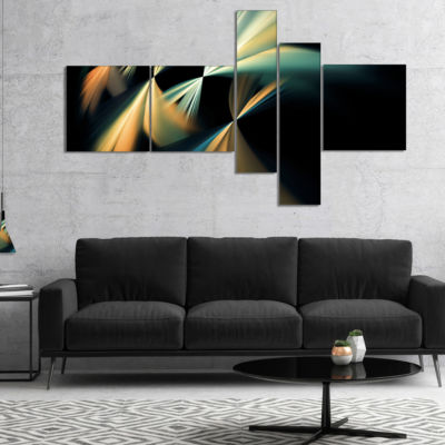Designart Floating Abstract Fractal Designs Multipanel Abstract Art On Canvas - 5 Panels