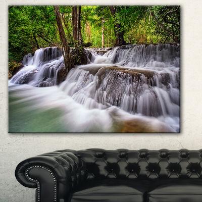 Designart Waterfall Huai Mae Kamin Landscape Art Print Canvas