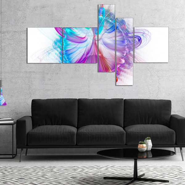 Designart Vortices Of Energy Fractal Pattern Multipanel Abstract Wall Art Canvas - 5 Panels