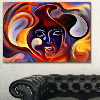 Designart Waves Of Thought Large Abstract Canvas Art Print