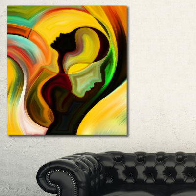 Designart Way Of Parenting Abstract Canvas Artwork